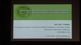 Thumbnail for entry CS Colloquium Milind Tambe 2018-04-30