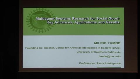 CS Colloquium Milind Tambe 2018-04-30
