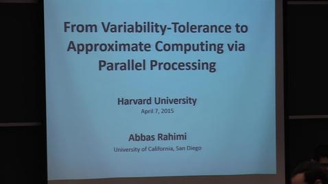 Thumbnail for entry Electrical Engineering Seminar Abbas Rahimi 2015-04-07