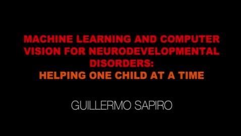 Thumbnail for entry EE Seminar Guillermo Sapiro 2019-09-27