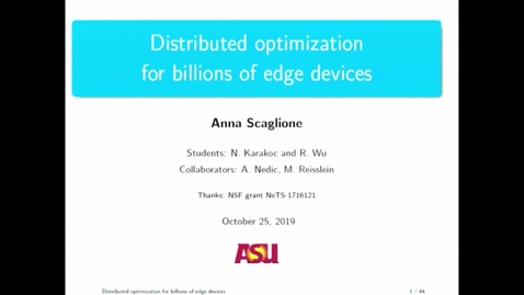 Thumbnail for entry EE Seminar Anna Scaglione 2019-10-25