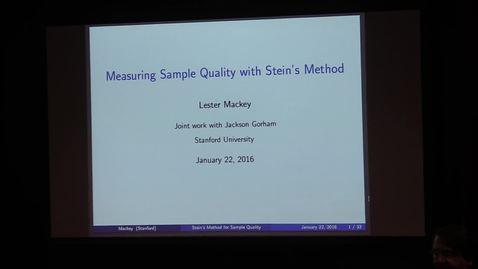 Thumbnail for entry Lester Mackey, Stanford University