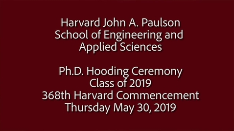 Thumbnail for entry Hooding Ceremony 2019_captioned