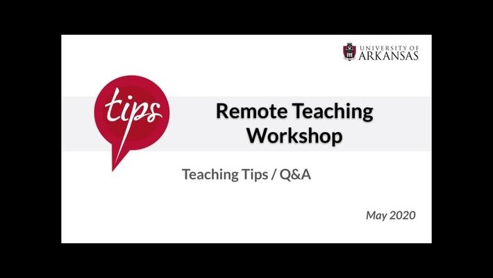 Teaching Tips   QnA