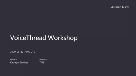 Thumbnail for entry VoiceThread Workshop