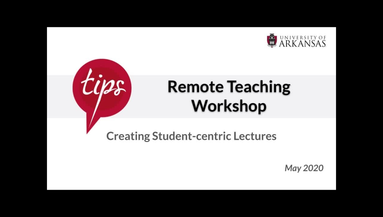 Creating Student-centric Lectures