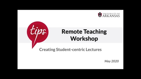 Thumbnail for entry Creating Student-centric Lectures