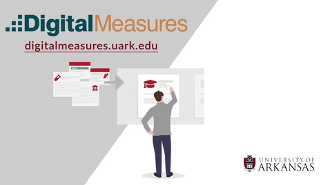 Thumbnail for entry Digital Measures- How to Add a Faculty Web Profile