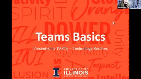 Thumbnail for entry Microsoft Teams Basics