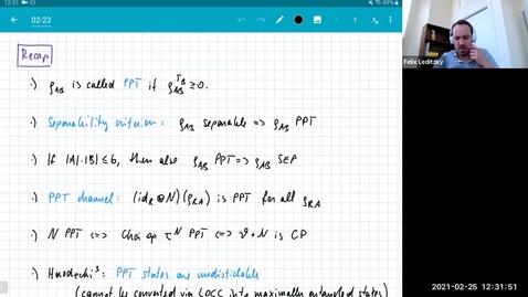 Thumbnail for entry MATH 595 Quantum channels I: Thursday, Feb 25