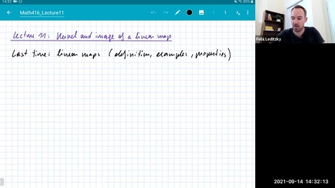 Thumbnail for entry MATH 416 Abstract Linear Algebra: Lecture 11
