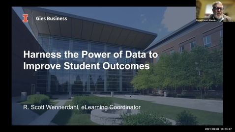 Thumbnail for entry Analytics Seminar: Harness the Power of Data to Improve Student Outcomes