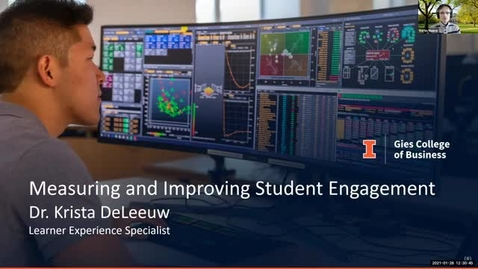 Thumbnail for entry eLearning Seminar - Measuring and Improving Student Engagement