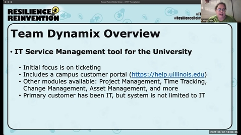 Thumbnail for entry 3B - TeamDynamix Project Implementation - Spring 2021 IT Pro Forum