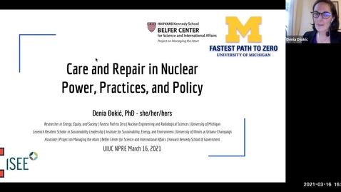 Thumbnail for entry NPRE 596 Seminar in Nuclear Sci & Engrg: Denia Djokić