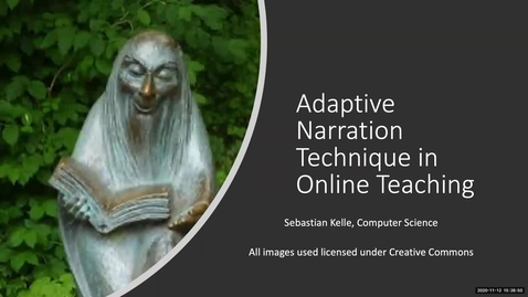 Thumbnail for entry Adaptive Narration Technique in Online Teaching - Fall 2020 IT Pro Forum