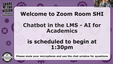 Thumbnail for entry Chatbot in the LMS - AI for Academics - Fall 2020 IT Pro Forum