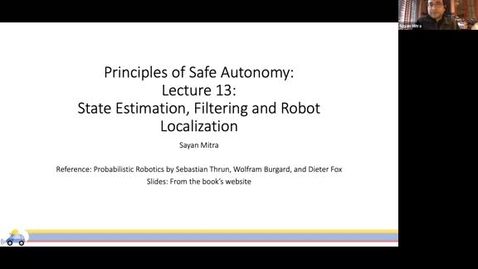 Thumbnail for entry Safe autonomy (ECE498SM) Lecture 13: Filtering, state estimation