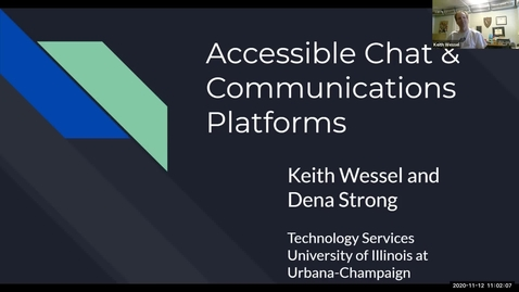 Thumbnail for entry Accessible Chat and Communications Platforms