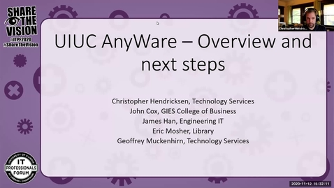 Thumbnail for entry UIUC AnyWare - Overview and Next Steps - Fall 2020 IT Pro Forum
