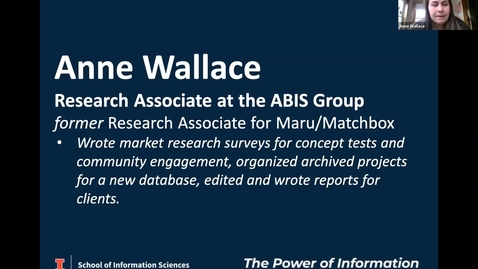 Thumbnail for entry BSIS Career Speaker: Anne Wallace, Research Associate, The ABIS Group