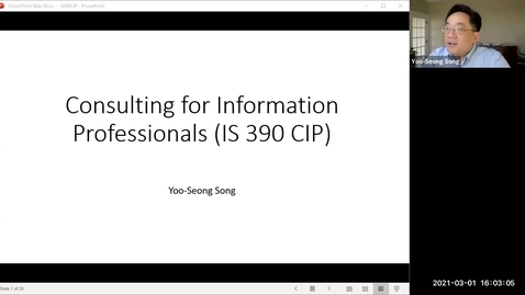 Thumbnail for entry Consulting Practices for Information Professionals with Professor Song (BSIS Focus)