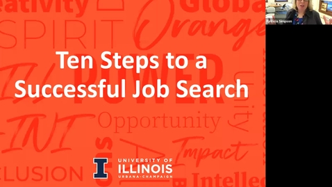 Thumbnail for entry Women Chemists' Committee '10 Steps to a Successful Job Search' Workshop