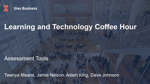Thumbnail for entry Gies Learning and Technology Coffee Hour - October 2021