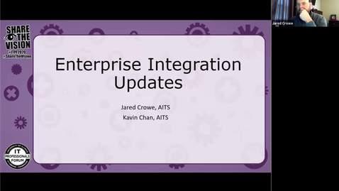 Thumbnail for entry Enterprise Integration Updates - Fall 2020 IT Pro Forum
