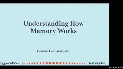 Thumbnail for entry Understanding How Memory Works