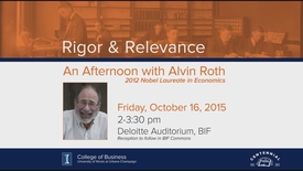 Thumbnail for entry Rigor & Relevance: An Afternoon with Alvin Roth