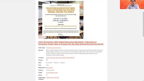Thumbnail for entry UIUC IGI Summer 2021 Global Educators Workshop
