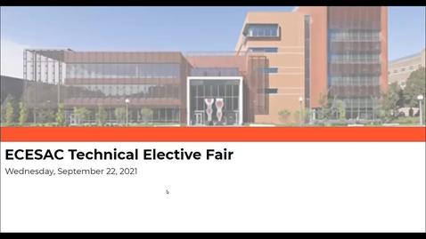 Thumbnail for entry ECESAC Tech Elective Fair