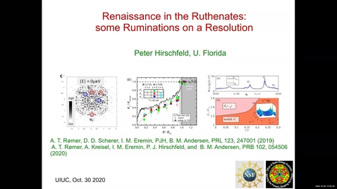 Thumbnail for entry Condensed Matter Seminar - Peter Hirschfeld, University of Florida