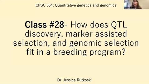 Thumbnail for entry Spring 2021-CPSC 554-Quant Genetics and Genomics-Section A