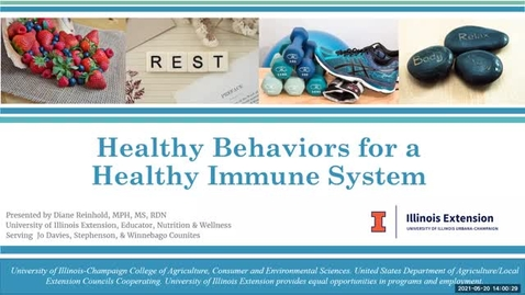 Thumbnail for entry Healthy Behaviors for a Healthy Immune System
