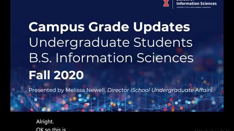 Thumbnail for entry Fall 2020 Campus Grade Updates: Credit/No-Credit (CR/NC) & Drop Information