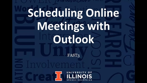 Thumbnail for entry Scheduling Online meetings with Outlook