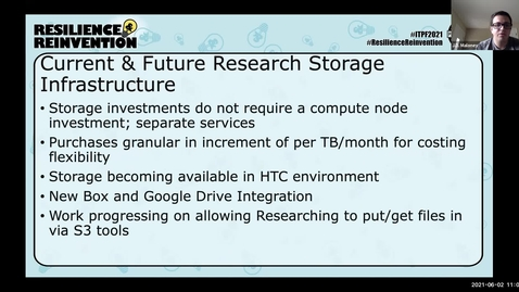 Thumbnail for entry 2A: The Next Generation of Research Storage Infrastructure and Services at Illinois Birds of a Feather - Spring 2021 IT Pro Forum