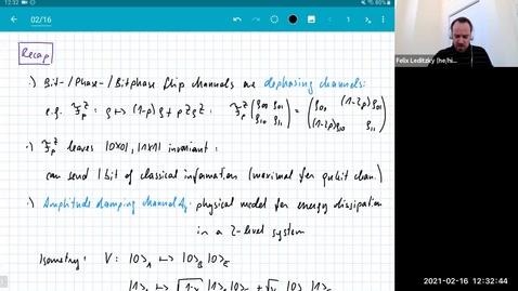 Thumbnail for entry MATH 595 Quantum channels I: Tuesday, Feb 16