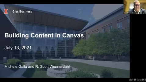 Thumbnail for entry Building Content in Canvas