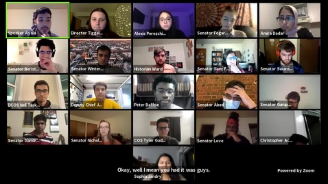 Thumbnail for entry Illinois Student Government Senate Meeting - March 3, 2021 - 7:00 p.m.