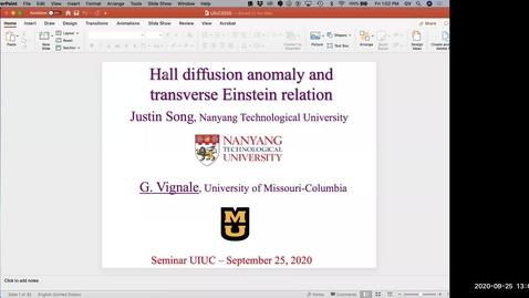 Thumbnail for entry Condensed Matter Seminar - Giovanni Vignale, University of Missouri