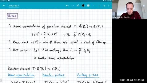 Thumbnail for entry MATH 595 Quantum channels I: Thursday, Feb 4
