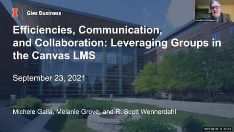 Thumbnail for entry Efficiencies, Communication, and Collaboration: Leveraging Groups in the Canvas LMS