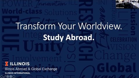 Thumbnail for entry iSchool Undergraduate Study Abroad Info Session