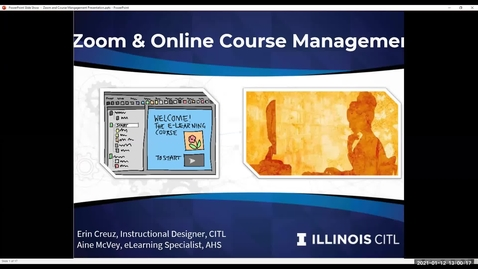 Thumbnail for entry Zoom and Course Management