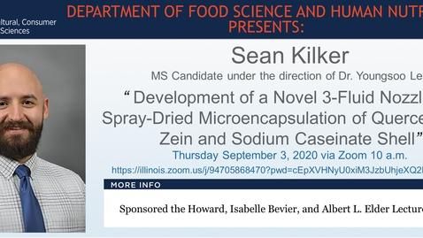 Thumbnail for entry FSHN Graduate Seminar- Sean Kilker- Sept. 3, 2020