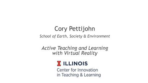 Thumbnail for entry Active Teaching & Learning with Virtual Reality