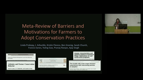 Thumbnail for entry NRES 500 Fall 2018 - Dr. Linda S. Prokopy - Meta-Review of Barriers and Motivations for Farmers to Adopt Conservation Practices